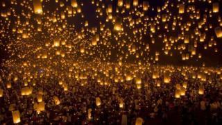 Lanterns in Iloilo, Philippines