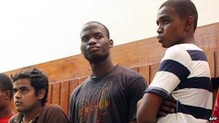 Michael Adebolajo (centre) in court in Kenya in 2010