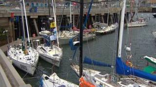 Racing yachts in Plymouth