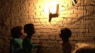 An electrified home in UP village