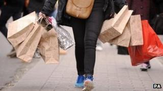 shopper on Oxford Street