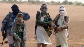 Malian Islamist militants pictured in August 2012