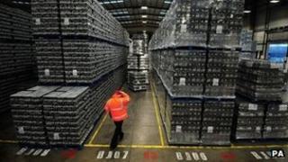 Warehouse at Molson Coors brewery