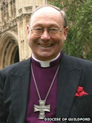 Right Reverend Christopher Hill outside the House of Lords