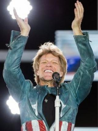 US singer Jon Bon Jovi performs in Munich, southern Germany, on 18 May 2013