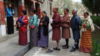 Voters in Bhutan (April 2013)
