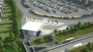Artist impression of proposed railway station