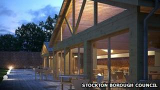 Artist's impressions of the new visitor centre and cookery school