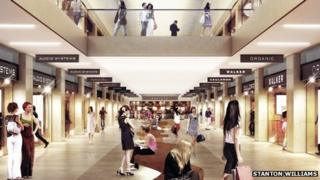Artist's impression of new Mailbox