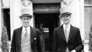 George Lowe (right), the last surviving member of the team which first conquered Everest