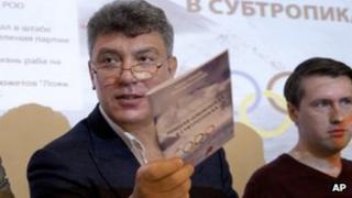 Boris Nemtsov presents his report in Moscow. Photo: 30 May 2013