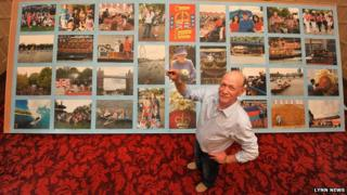 Dave Evans with his giant puzzle at Sandringham