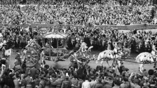 Coronation Day parade 1953