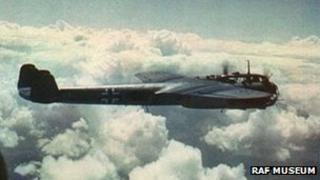 Rare colour photo of Dornier in flight