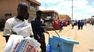 Street sellers in Malawi