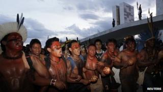 Brazilian indigenous protest in Brasilia, 15 May 13