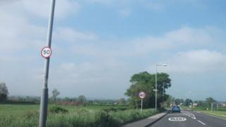 Speed limits at the entrance to Zouch