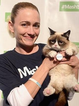 Tabatha Bundesen and Grumpy Cat