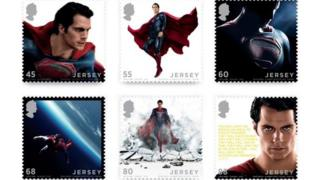 Superman stamps