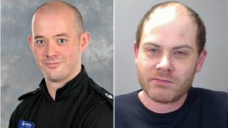 PC Gareth Kingston and Roland Oliver