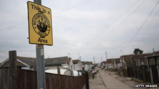Sign marking out Neighbourhood Watch area