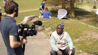Paa Joe being filmed in Clumber Park