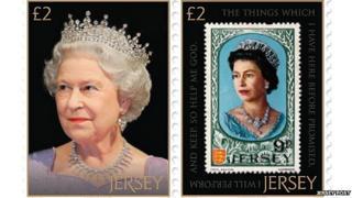 Se-tenant pair of stamps