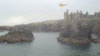 Helicopter at scene