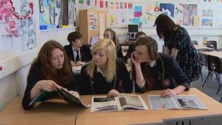 Students at Knox Academy in Haddington
