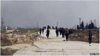 Pro-Assad forces near Qusair, Syria (1 June 2013)