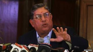 Indian cricket board chief N Srinivasan