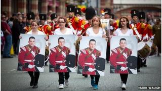 Manchester Day tribute to Drummer Lee Rigby