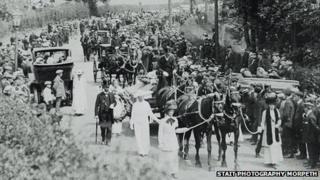 Emily Davison's funeral in Morpeth