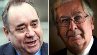 Alex Salmond and Mervyn King