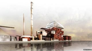 Artists impression of Grangemouth plant