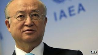 Yukiya Amano at IAEA headquarters in Vienna (3 June 2013)