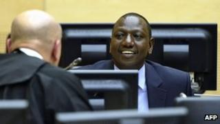 William Ruto at The Hague (14 May 2013)
