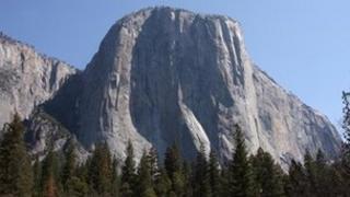 El Capitan, seen from El Capitan Meadow in Yosemite Valley, Yosemite National Park,