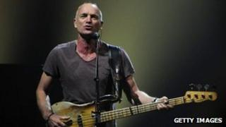 Sting performing in British Columbia on 30 May