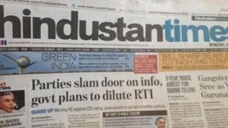 Screenshot of Hindustan Times