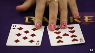 File photo: baccarat gaming table