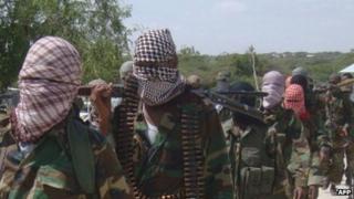 Al-Shabab militants -archive shot 2012