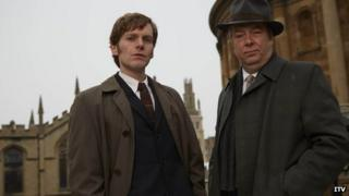 Shaun Evans and Roger Allam in Endeavour