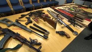 Weapons handed into Derbyshire Police during amnesty