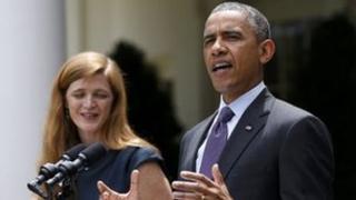 Samantha Power and Barack Obama