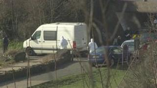 Scene of bombing on Duncrue towpath on Saturday 9 March