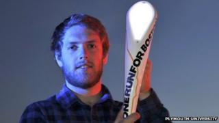 Jon Parlby with his baton design