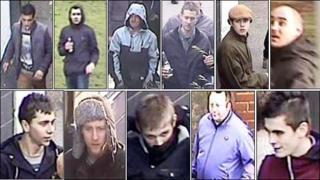 11 CCTV images of men