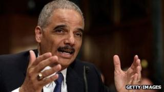 US Attorney General Eric Holder testifies before the Senate Appropriations Committee 6 June 2013