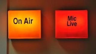 Radio studio lights on file picture